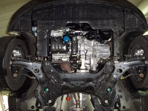 Защита двигателя Kia Rio 4 - фото №4