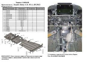 Защита двигателя Suzuki Jimny JB - фото №4