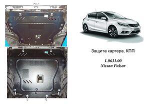Защита двигателя Nissan Pulsar (C13) - фото №1