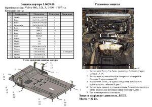 Защита двигателя Volvo 960 - фото №4