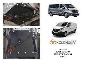 Защита двигателя Renault Trafic 3 - фото №3