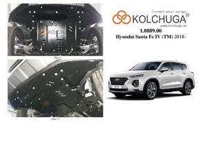 Защита двигателя Hyundai Santa Fe 4 - фото №1