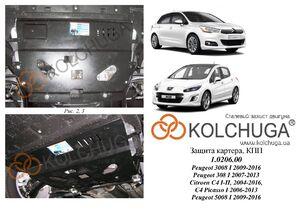 Защита двигателя Peugeot 3008 1 - фото №1
