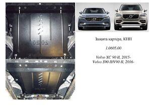 Защита двигателя Volvo XC60 (2-е поколение) - фото №1