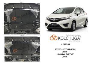 Защита двигателя Honda Fit III - фото №1