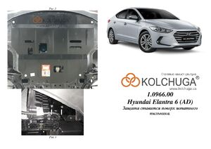 Защита двигателя Hyundai Elantra 6 AD - фото №3