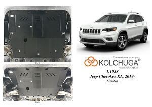 Защита двигателя Jeep Cherokee KL рейсталинг - фото №1