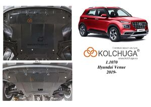 Защита двигателя Hyundai Venue - фото №2
