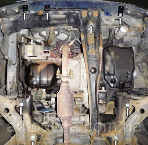 Защита двигателя Mazda 323 BJ - фото №4