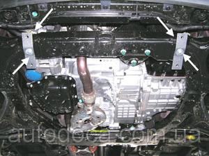 Захист двигуна Hyundai Santa Fe 3 - фото №9