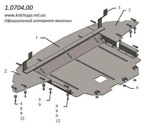 Защита двигателя Hyundai i-20 (2-ое поколение) - фото №3