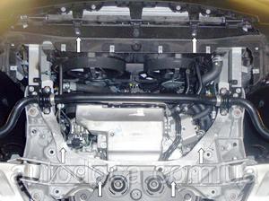 Защита двигателя Infiniti QX70 - фото №5