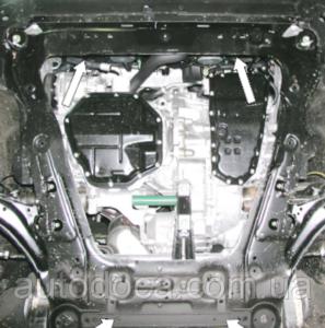 Защита двигателя Nissan X-Trail T31 - фото №5