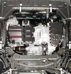 Захист двигуна Mitsubishi Outlander 2 XL - фото №7