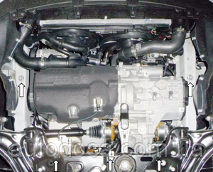 Защита двигателя Volkswagen Jetta 5 - фото №7