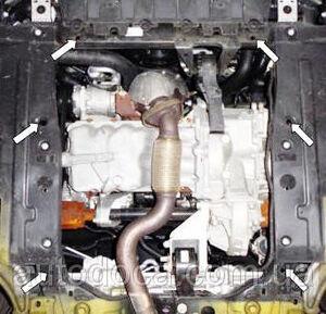 Защита двигателя Opel Zafira C Tourer - фото №6
