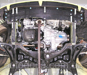 Защита двигателя Peugeot 107 - фото №5
