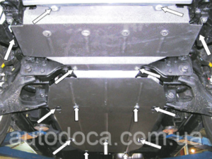 Защита двигателя Kia Sorento 1 - фото №2