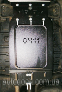 Захист двигуна Mitsubishi L200 4 - фото №15