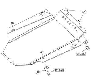 Защита двигателя Audi A4 B5 - фото №4