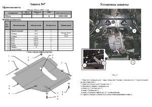 Защита двигателя Nissan Micra K12 / K13 - фото №2